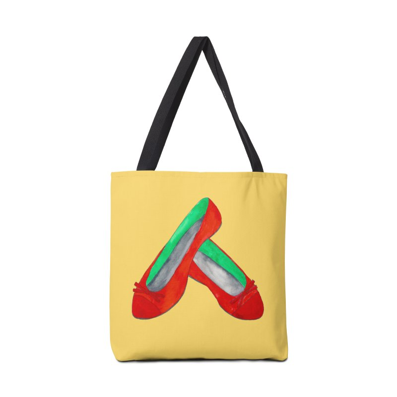 Red Shoes Accessories Bag by Eli Trier Artist's Shop