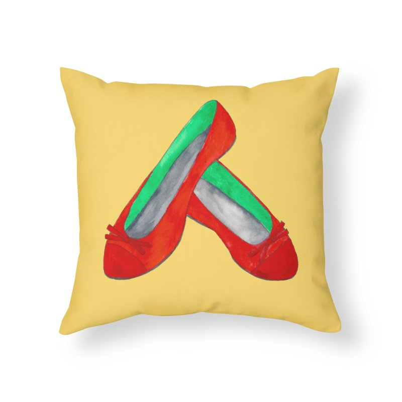 Red Shoes Home Throw Pillow by Eli Trier Artist's Shop