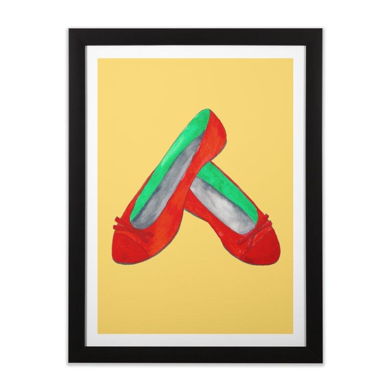 Red Shoes Home Framed Fine Art Print by Eli Trier Artist's Shop