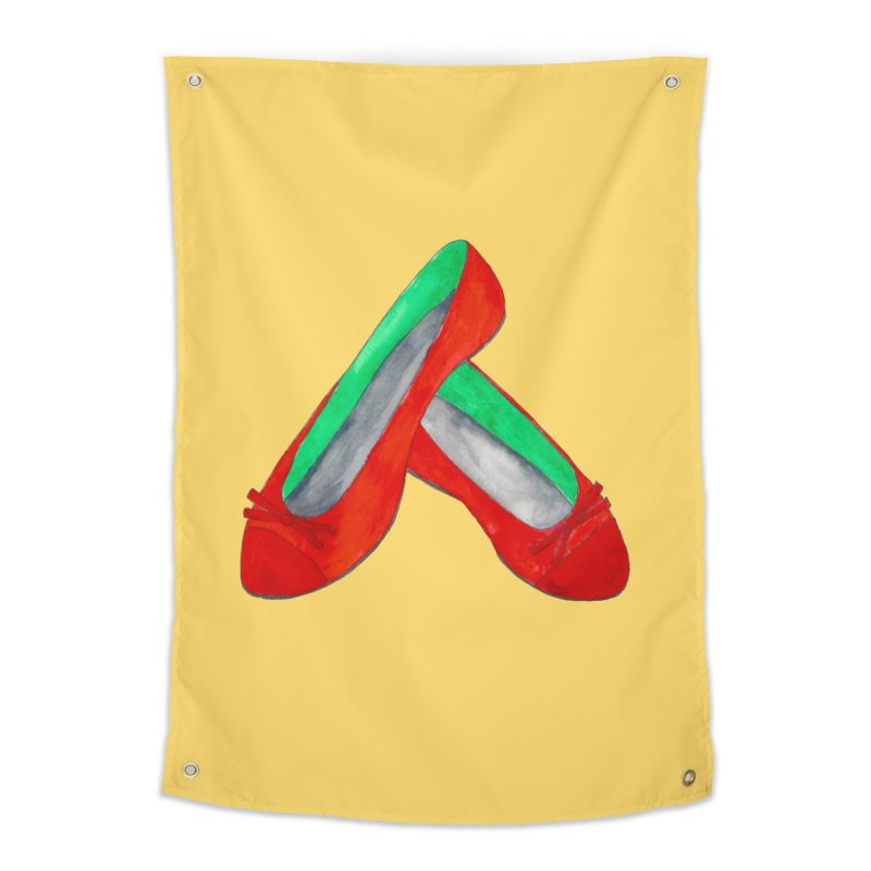 Red Shoes Home Tapestry by Eli Trier Artist's Shop