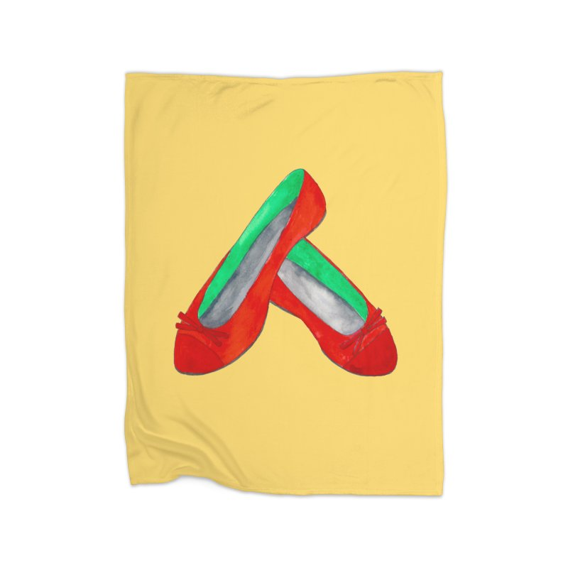 Red Shoes Home Blanket by Eli Trier Artist's Shop