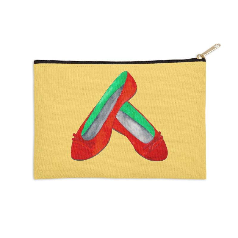 Red Shoes Accessories Zip Pouch by Eli Trier Artist's Shop