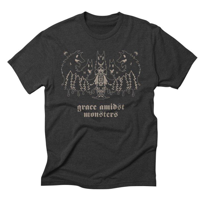 [GRACE AMIDST MONSTERS] Men's Triblend T-Shirt by e l i z a