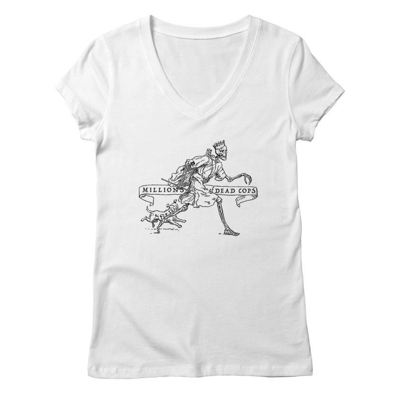 MILLIONS OF DEAD COPS Women's V-Neck by e l i z a