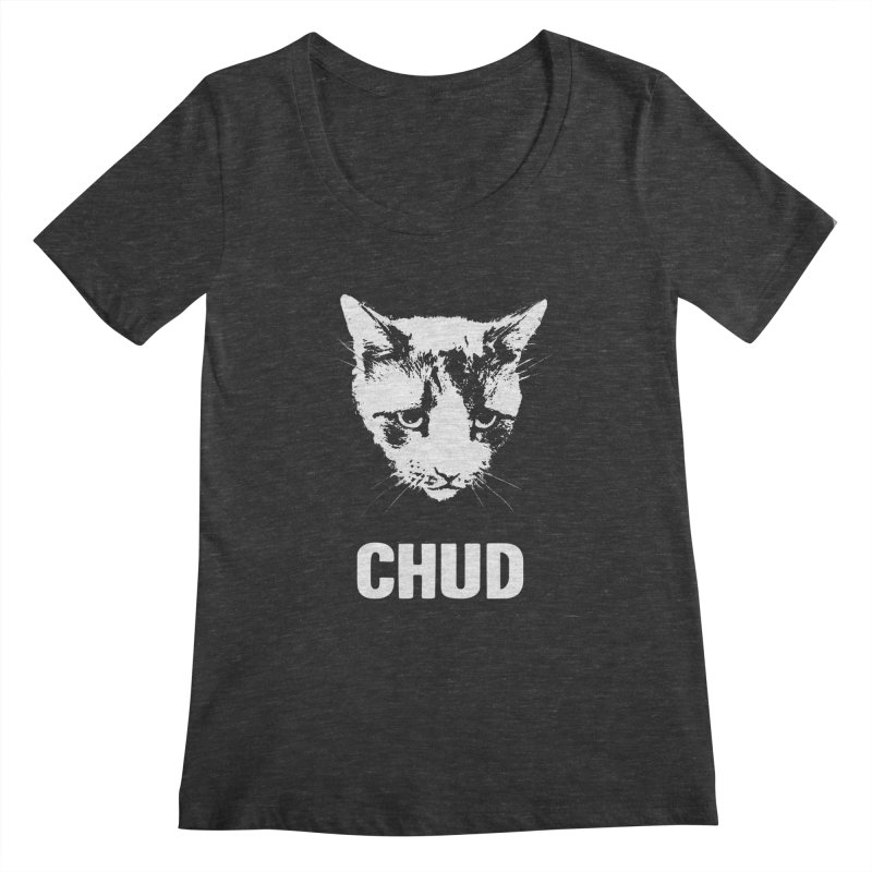 CHUD (black) Women's Scoopneck by e l i z a