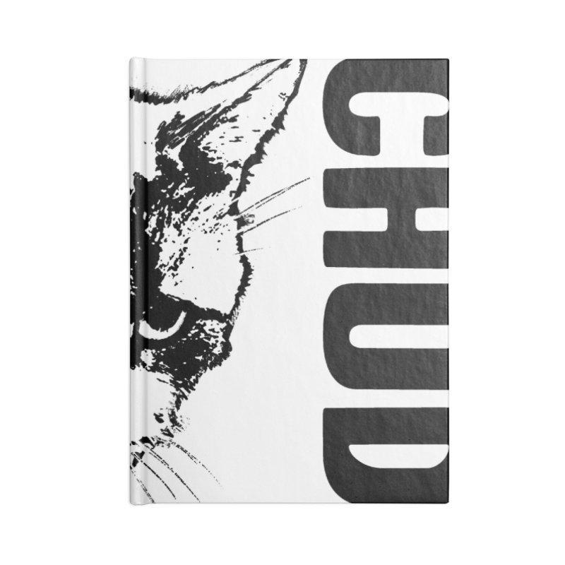 CHUD (white & gray) Accessories Lined Journal Notebook by e l i z a