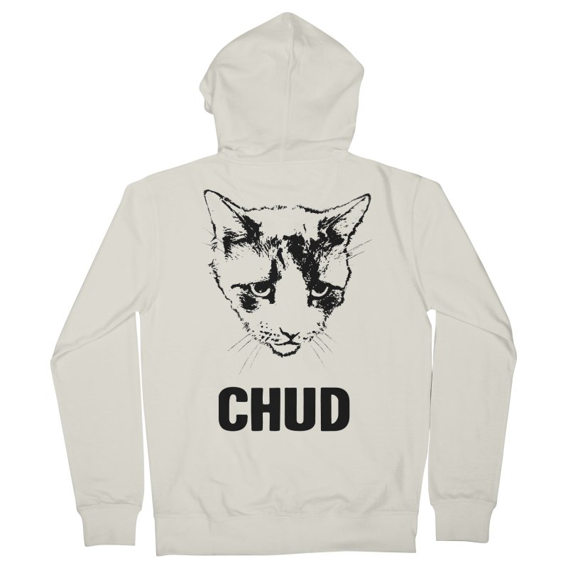 CHUD (white & gray) Women's Zip-Up Hoody by e l i z a