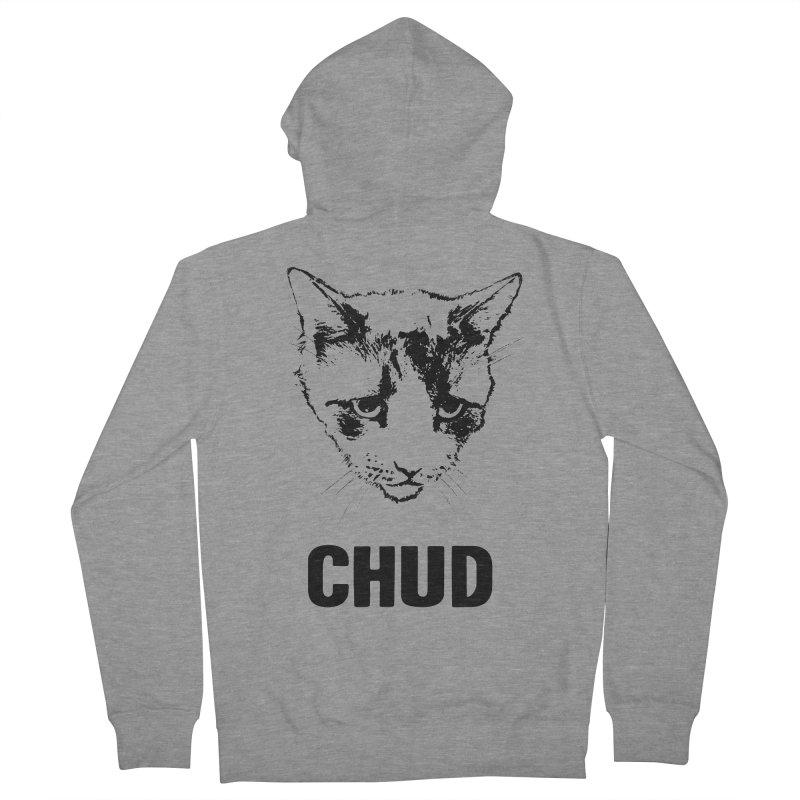 CHUD (white & gray) Men's Zip-Up Hoody by e l i z a