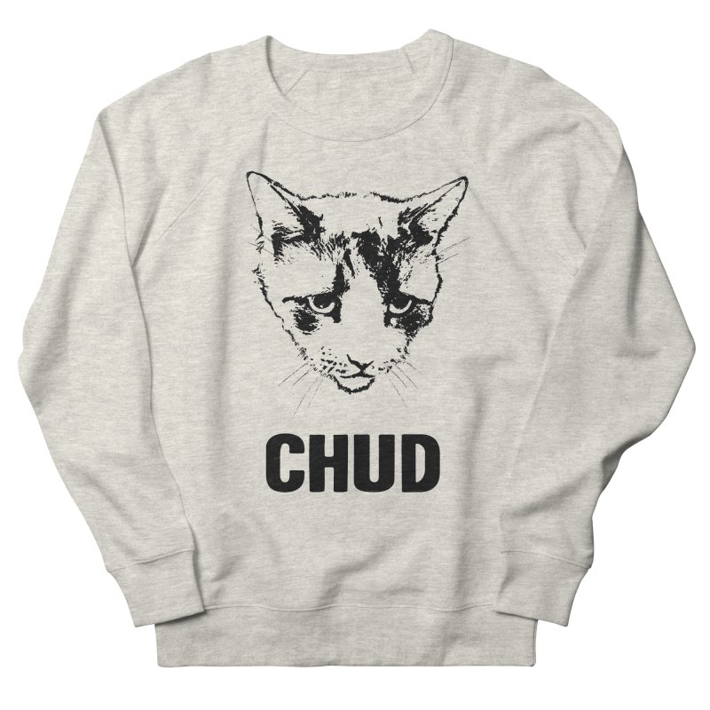 CHUD (white & gray) Men's Sweatshirt by e l i z a