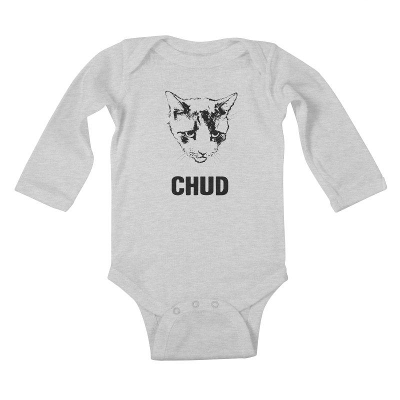CHUD (white & gray) Kids Baby Longsleeve Bodysuit by e l i z a