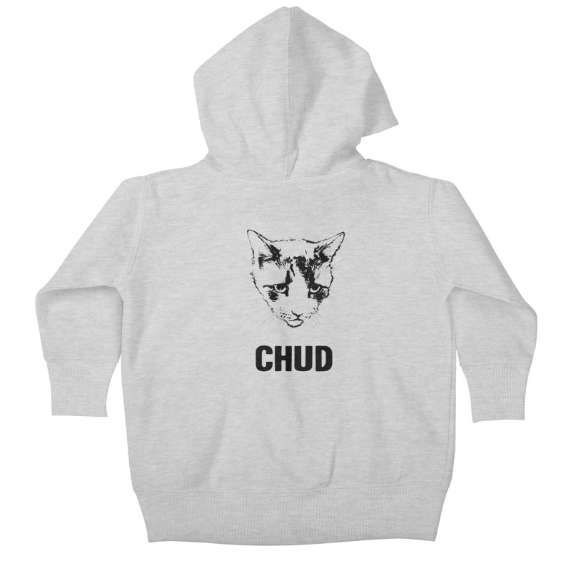 CHUD (white & gray) Kids Baby Zip-Up Hoody by e l i z a