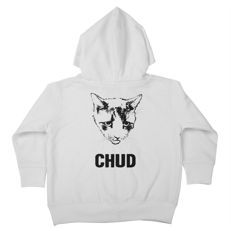 CHUD (white & gray) Kids Toddler Zip-Up Hoody by e l i z a
