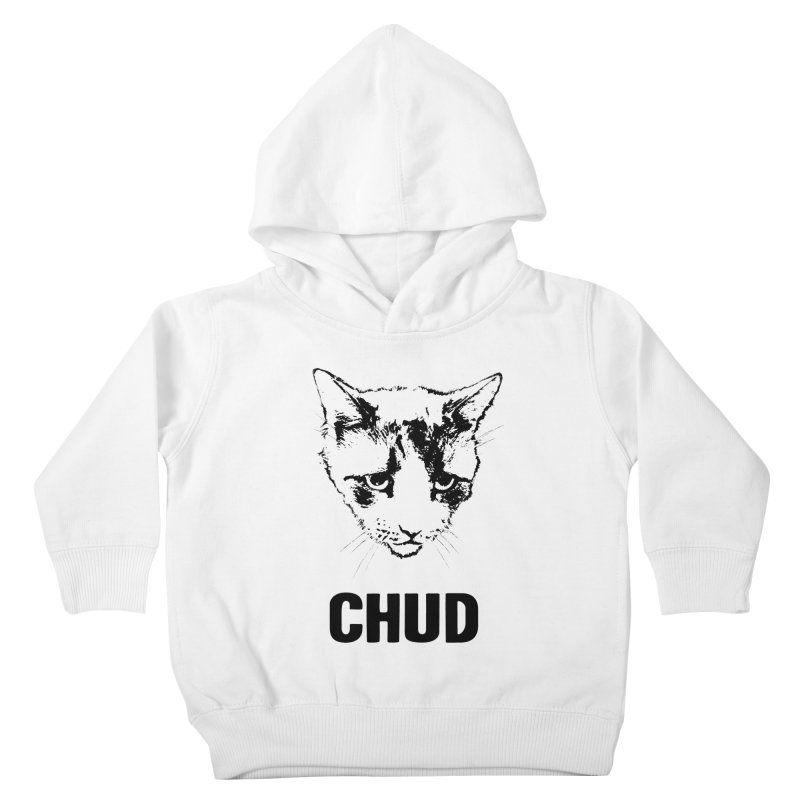 CHUD (white & gray) Kids Toddler Pullover Hoody by e l i z a