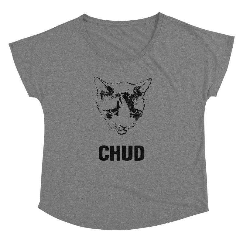 CHUD (white & gray) Women's Dolman by e l i z a