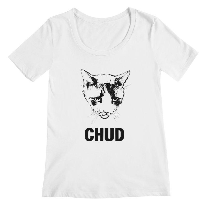 CHUD (white & gray) Women's Scoopneck by e l i z a