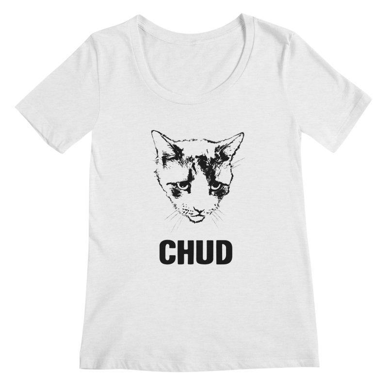 CHUD (white & gray) Women's Regular Scoop Neck by e l i z a