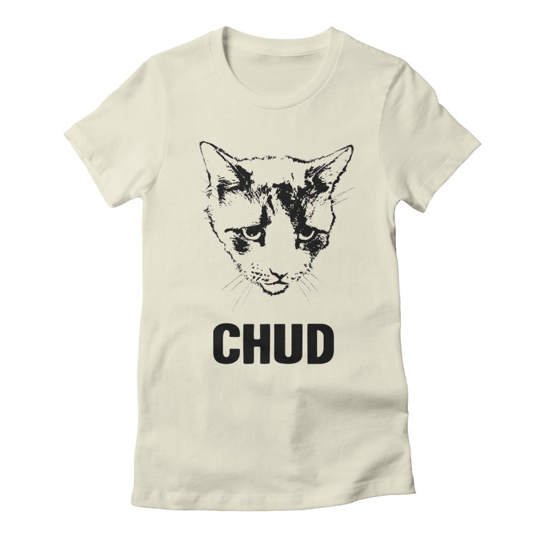 CHUD (white & gray) Women's Fitted T-Shirt by e l i z a