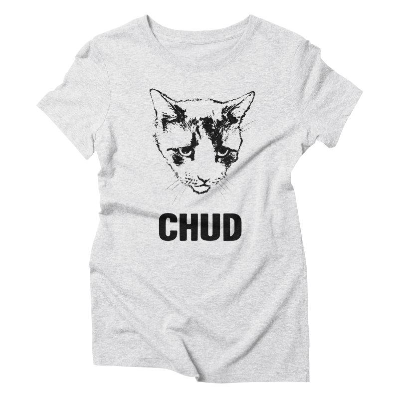 CHUD (white & gray) Women's Triblend T-Shirt by e l i z a