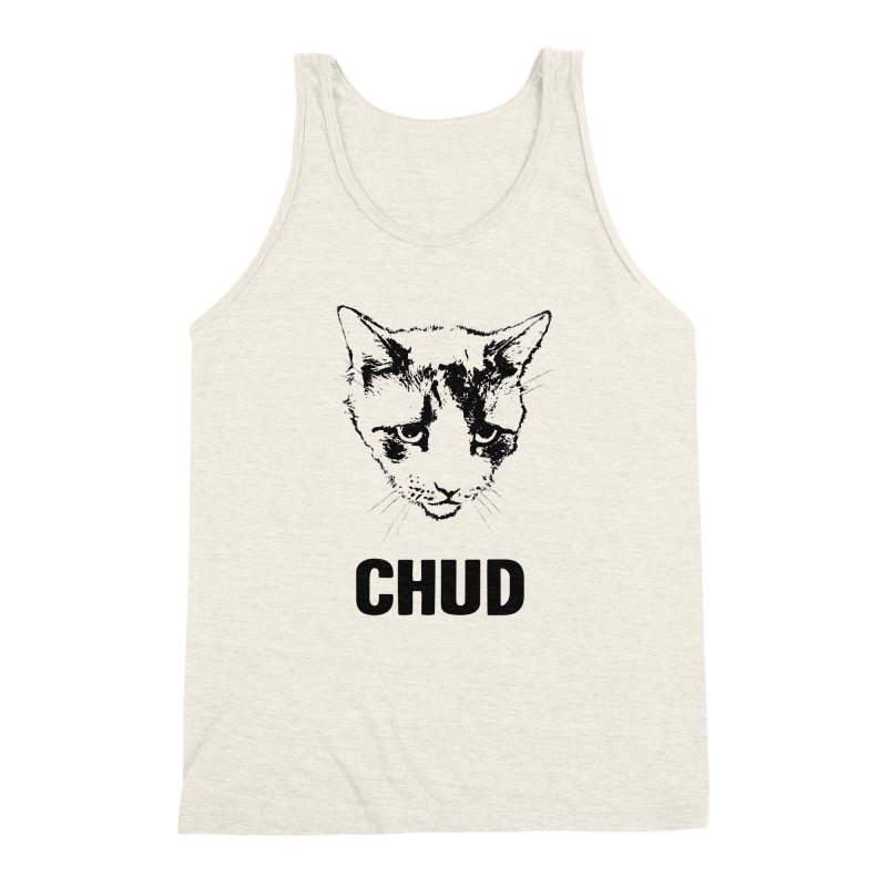 CHUD (white & gray) Men's Triblend Tank by e l i z a