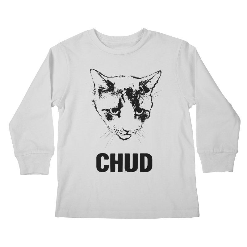 CHUD (white & gray) Kids Longsleeve T-Shirt by e l i z a