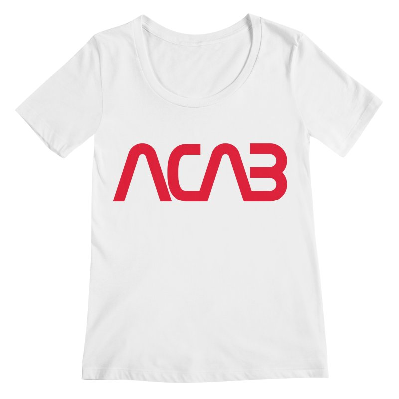 ACAB Worm Women's Scoopneck by e l i z a