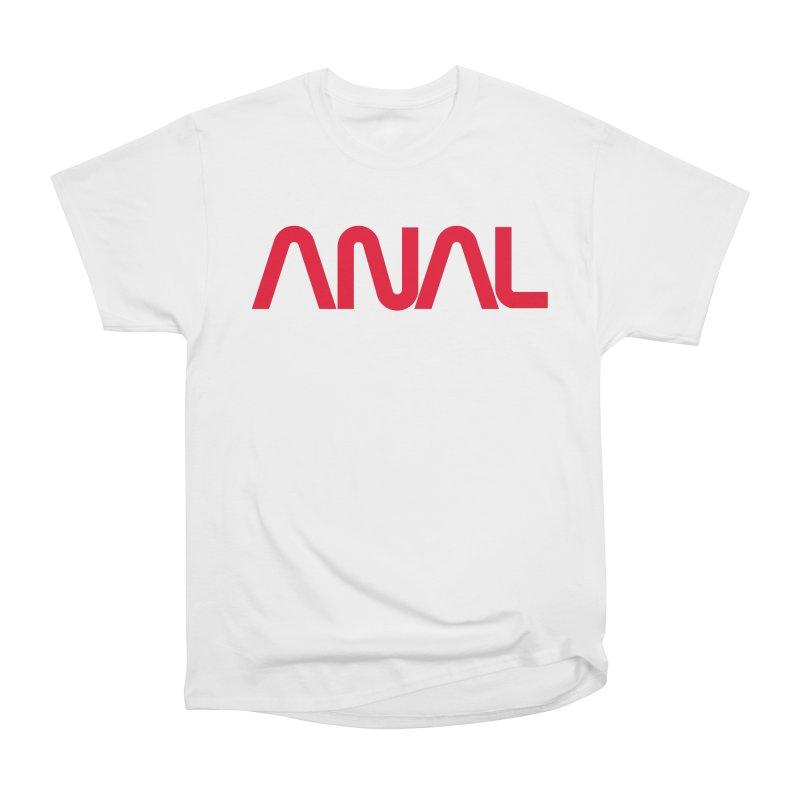 ANAL Worm Men's Heavyweight T-Shirt by e l i z a