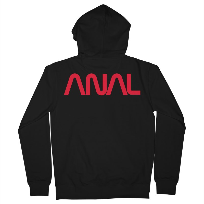 ANAL Worm Men's Zip-Up Hoody by e l i z a
