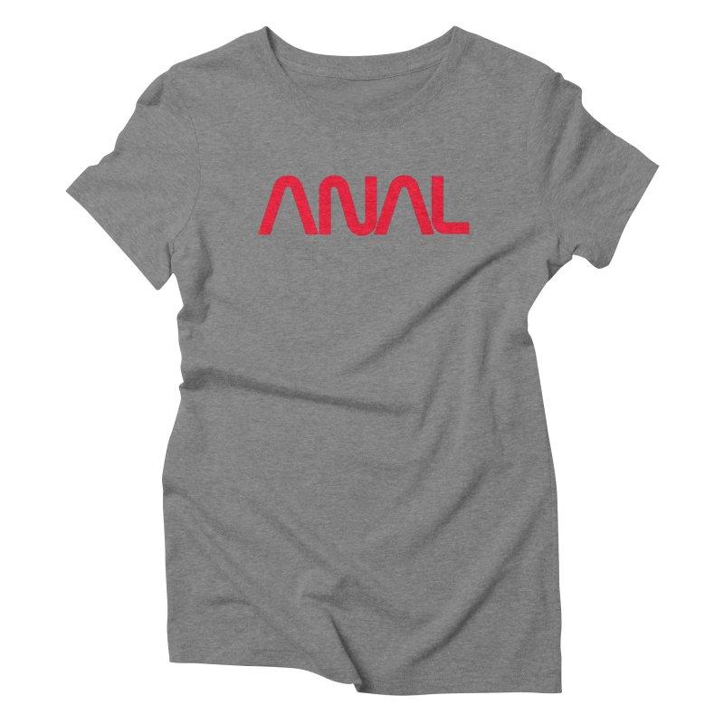 ANAL Worm Women's Triblend T-Shirt by e l i z a