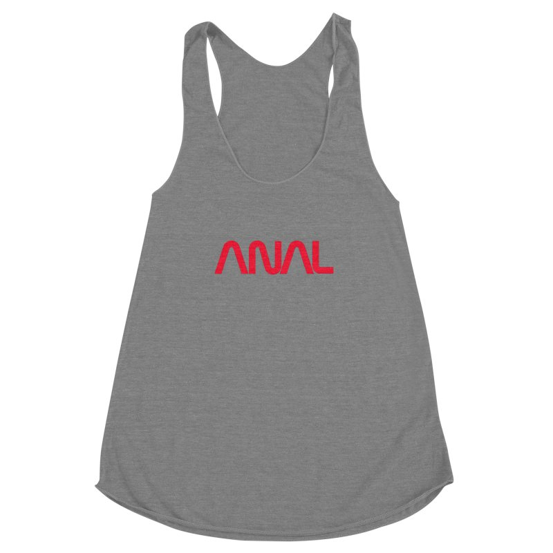 ANAL Worm Women's Racerback Triblend Tank by e l i z a