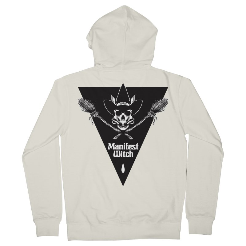 [MANIFEST WITCH] White Shirt Men's Zip-Up Hoody by e l i z a