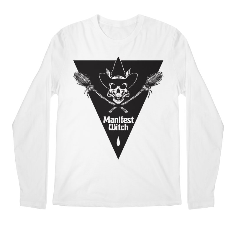 [MANIFEST WITCH] White Shirt Men's Longsleeve T-Shirt by e l i z a