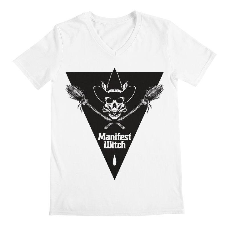 [MANIFEST WITCH] White Shirt Men's V-Neck by e l i z a