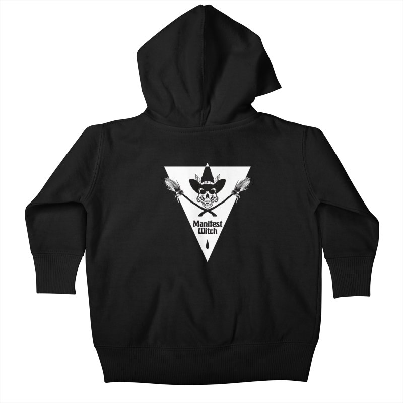[MANIFEST WITCH] Black Shirt Kids Baby Zip-Up Hoody by e l i z a