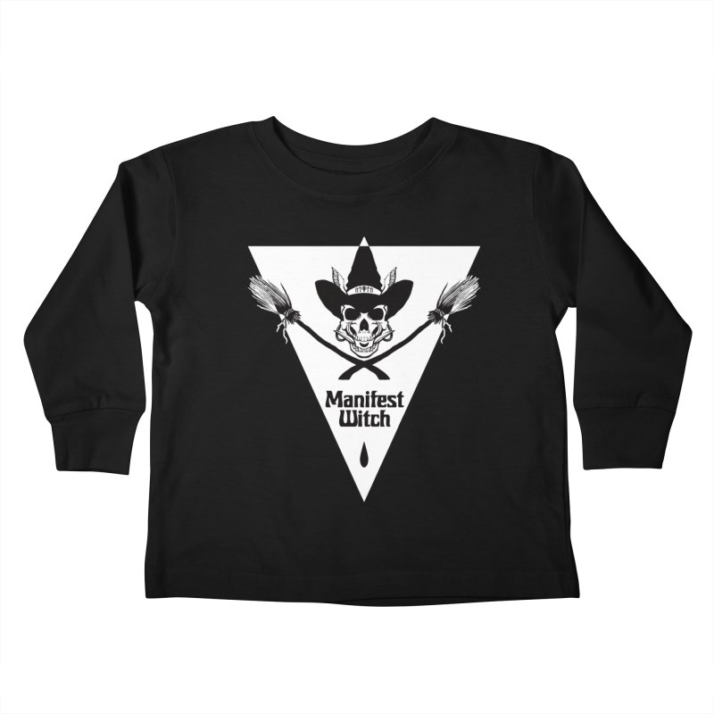 [MANIFEST WITCH] Black Shirt Kids Toddler Longsleeve T-Shirt by e l i z a