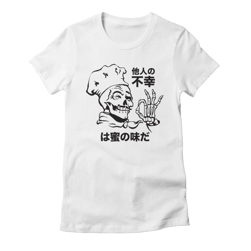 Happiness Chef White Women's Fitted T-Shirt by e l i z a
