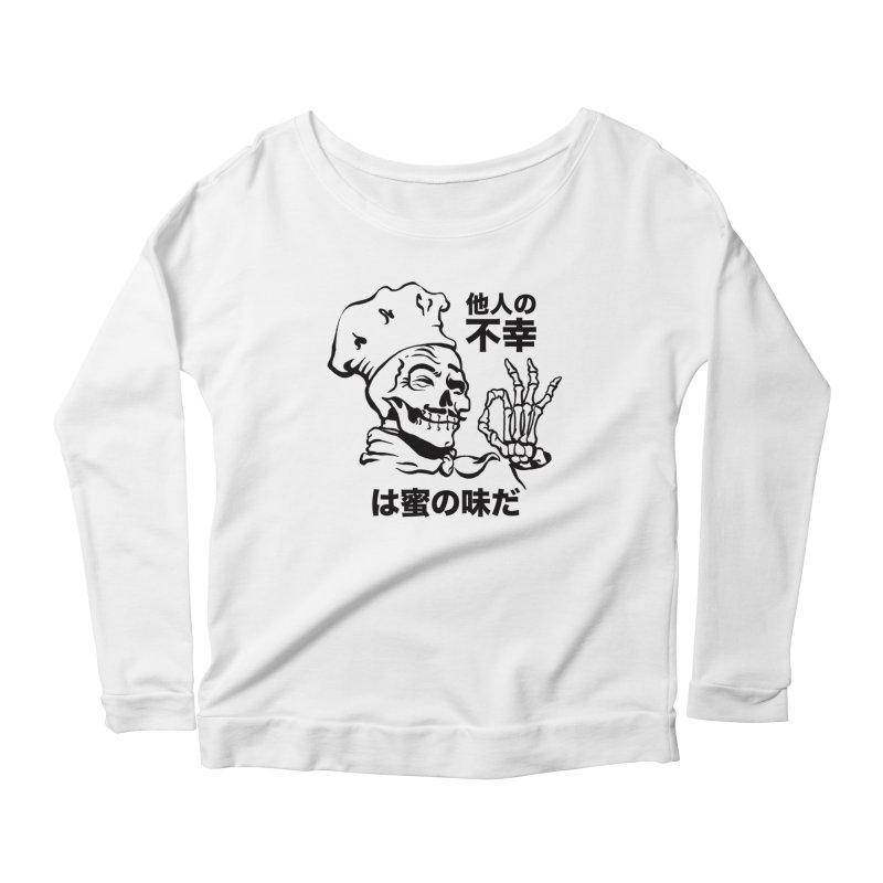Happiness Chef White Women's Scoop Neck Longsleeve T-Shirt by e l i z a