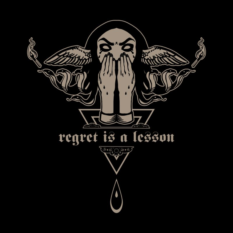 [REGRET IS A LESSON] Women's Zip-Up Hoody by e l i z a