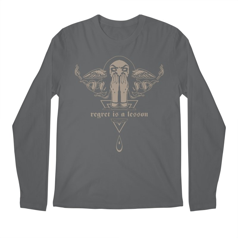 [REGRET IS A LESSON] Men's Longsleeve T-Shirt by e l i z a