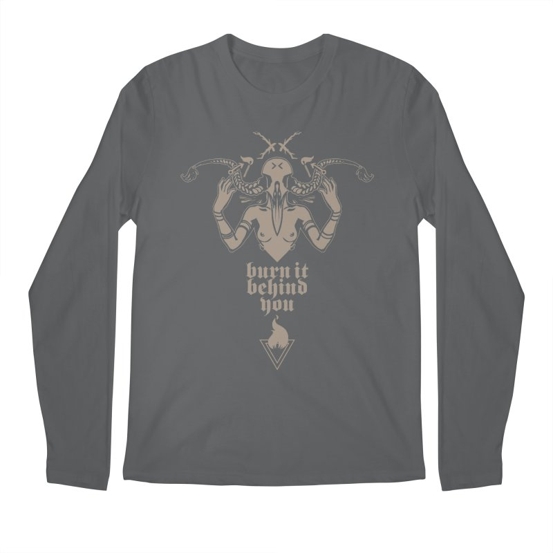 [BURN IT BEHIND YOU] Men's Longsleeve T-Shirt by e l i z a