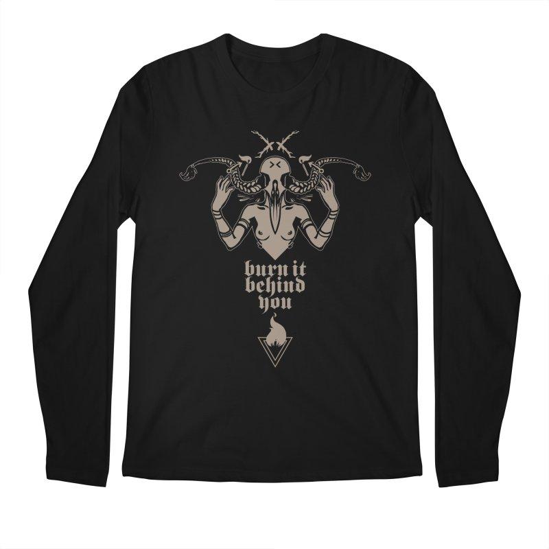 [BURN IT BEHIND YOU] Men's Longsleeve T-Shirt by e l i z a