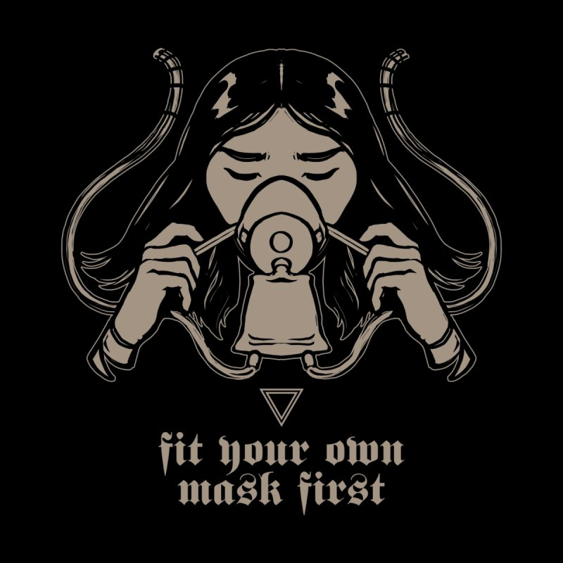 [FIT YOUR OWN MASK FIRST] Women's Fitted T-Shirt by e l i z a