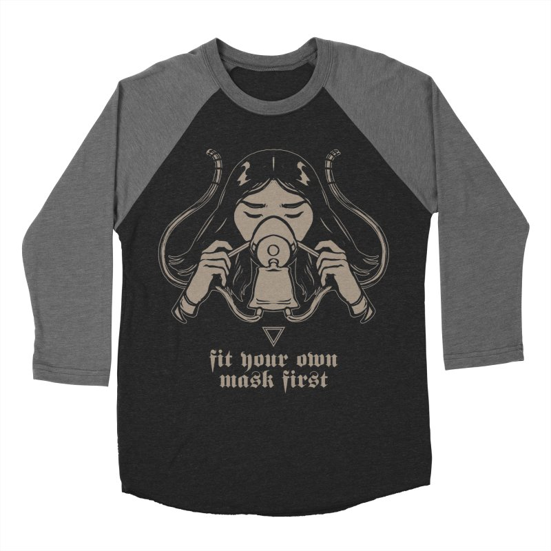 [FIT YOUR OWN MASK FIRST] Men's Baseball Triblend T-Shirt by e l i z a