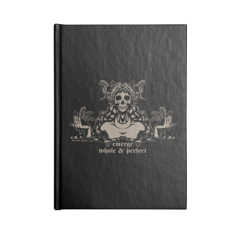 [EMERGE WHOLE & PERFECT] Accessories Lined Journal Notebook by e l i z a