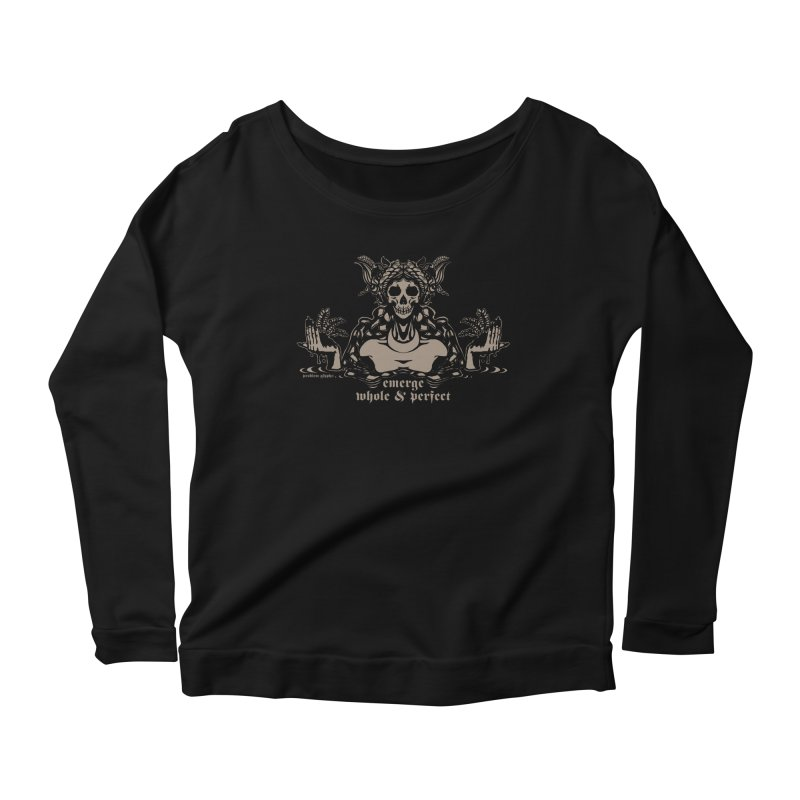 [EMERGE WHOLE & PERFECT] Women's Scoop Neck Longsleeve T-Shirt by e l i z a