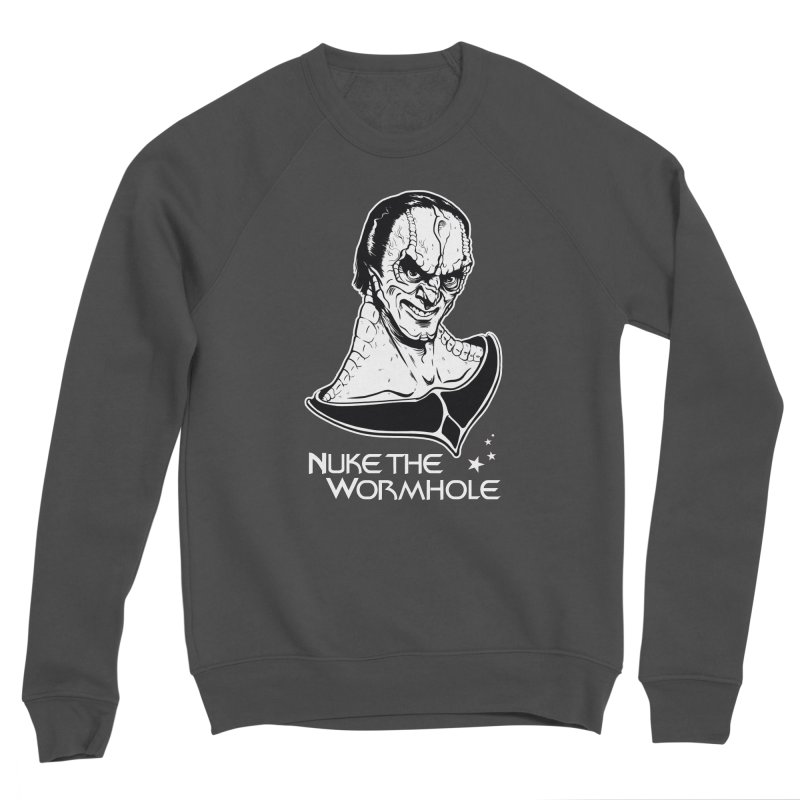 Nuke the Wormhole Men's Sponge Fleece Sweatshirt by e l i z a