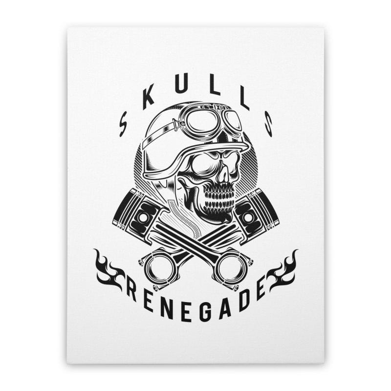 Skulls Renegade MC Home Stretched Canvas by elizabethknox's Artist Shop