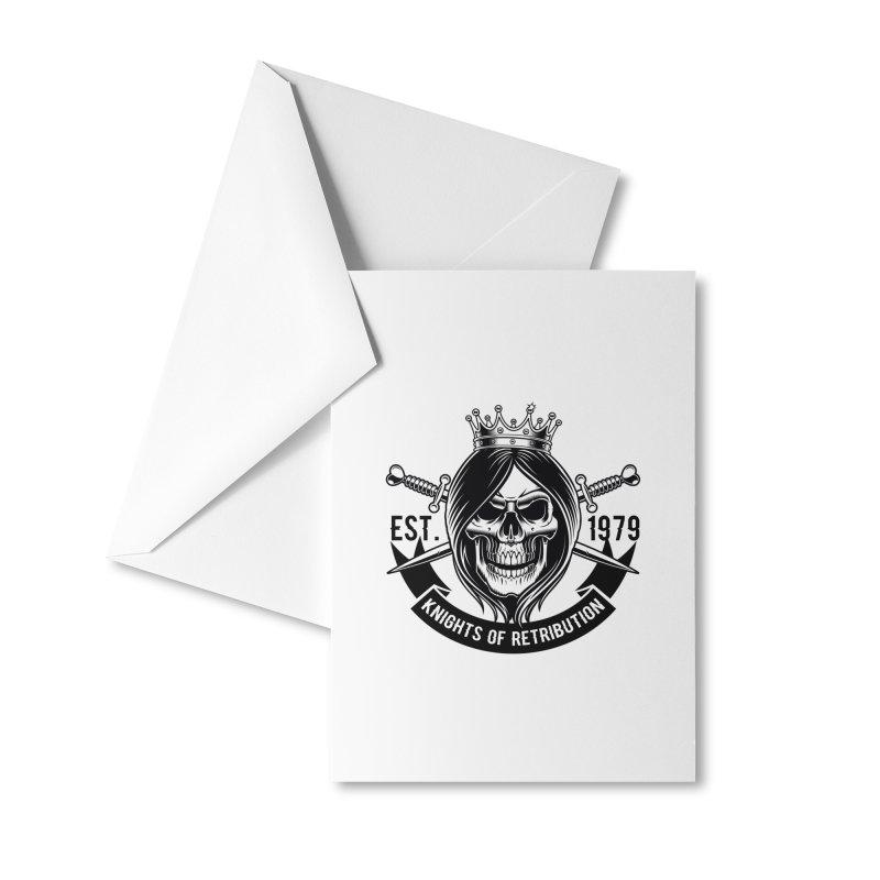 Knights of Retribution MC Accessories Greeting Card by elizabethknox's Artist Shop