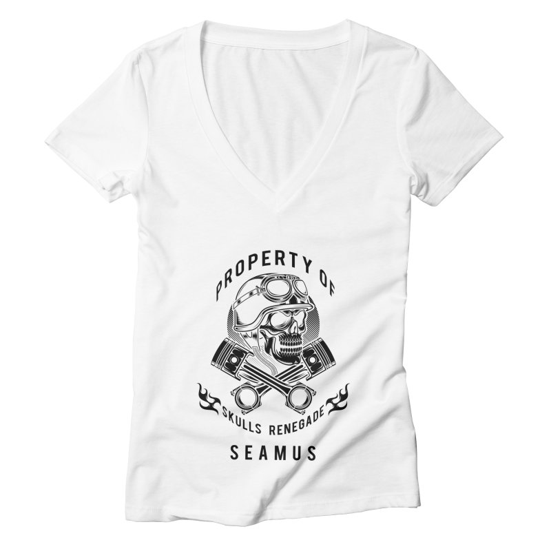 Property of Seamus Women's V-Neck by elizabethknox's Artist Shop