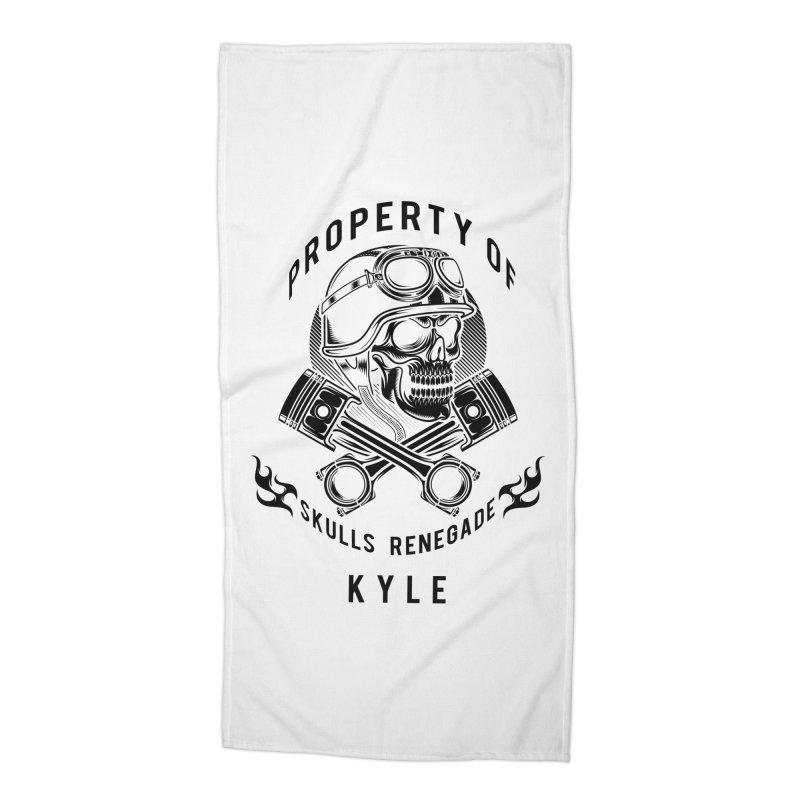 Property of Kyle Accessories Beach Towel by elizabethknox's Artist Shop