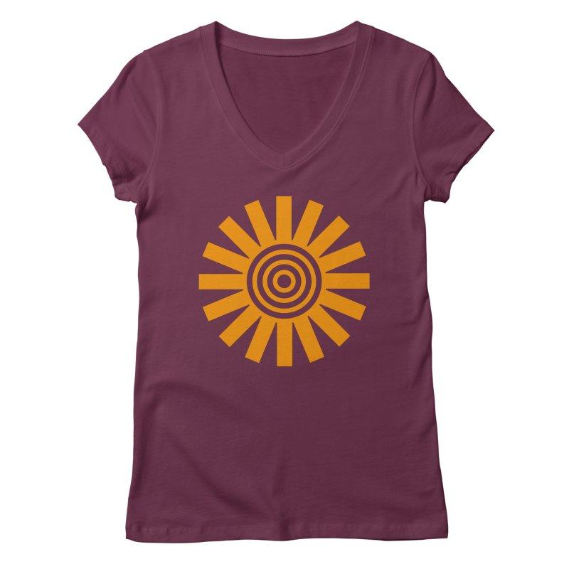 Sun Spun Women's V-Neck by elizabethreay's Artist Shop